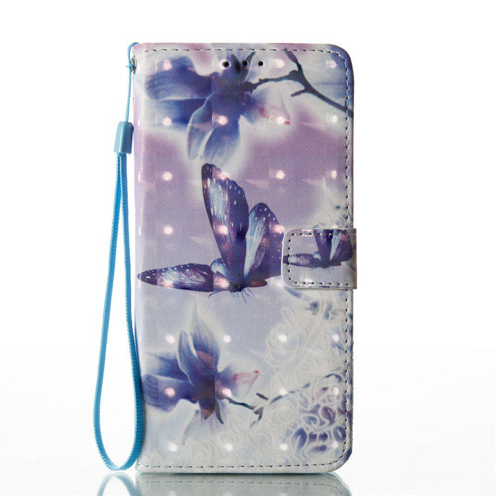 Fashion 3D Painted Butterfly Leather Case for Samsung Galaxy S8 Plus