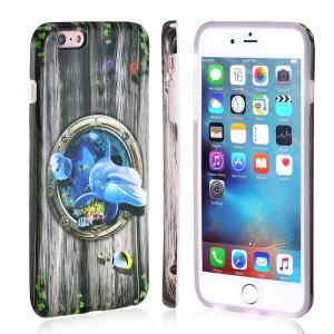 Marine Animal Dolphin Patterned Full Coverage Soft Tpu Phone Case for iPhone 6 Plus 6S Plus -