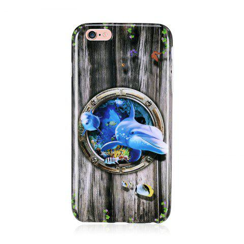 Shop Marine Animal Dolphin Patterned Full Coverage Soft Tpu Phone Case for iPhone 6 Plus 6S Plus