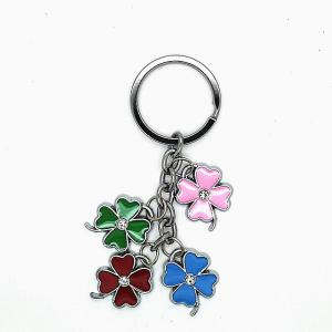 Creative Colorful Four-leaf Clover Pendant Key Chain -