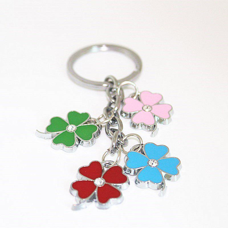 Best Creative Colorful Four-leaf Clover Pendant Key Chain