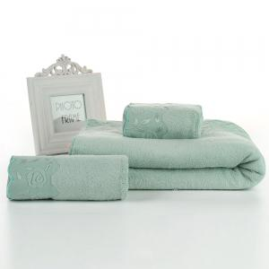Bamboo Charcoal Fiber Wool Bath Towel Gift Box  Set -