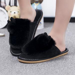 Lady Casual Trend of Fashion Home Outdoor Suede Warm Slipper -