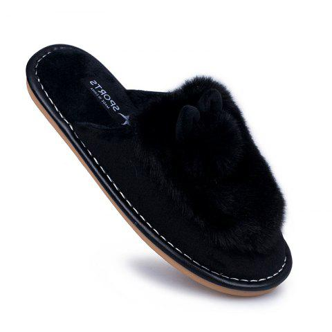 Online Lady Casual Trend of Fashion Home Outdoor Suede Warm Slipper
