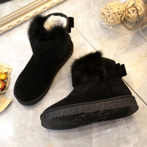 Women Warm Casual Shoes Winter Snow Boots Female Elevator Cotton Sneakers -