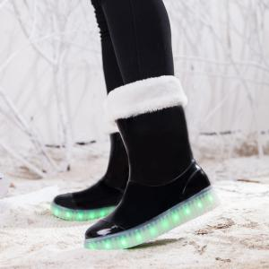 LED Women Warm Casual Shoes Winter Light Snow Boots Female Elevator Cotton Sneakers -