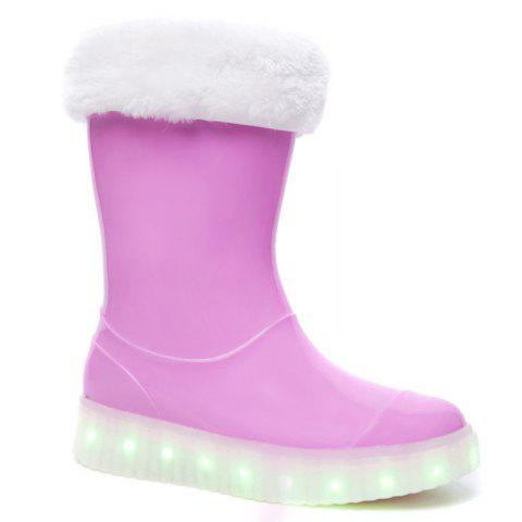 Chic LED Women Warm Casual Shoes Winter Light Snow Boots Female Elevator Cotton Sneakers