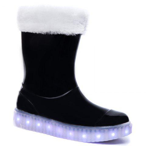 Store LED Women Warm Casual Shoes Winter Light Snow Boots Female Elevator Cotton Sneakers