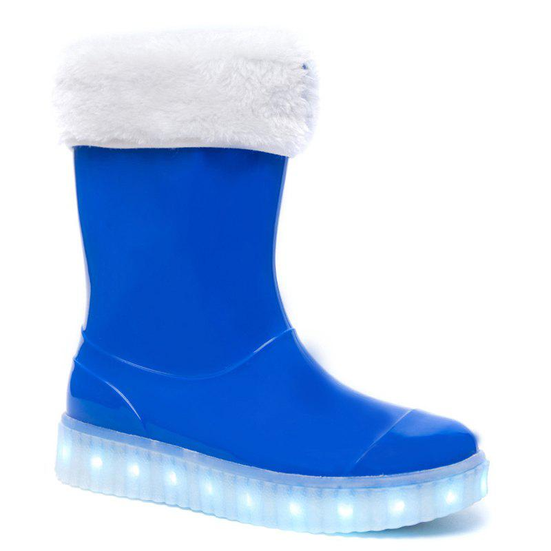 Outfit LED Women Warm Casual Shoes Winter Light Snow Boots Female Elevator Cotton Sneakers