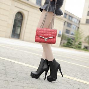 Round Head with High Heel Simple Sexy Bare Boots -