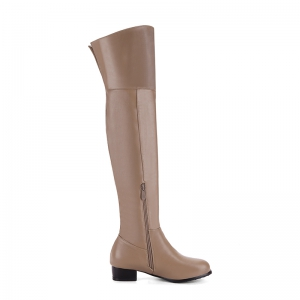 Round Low-Heel with Casual Knee Boots -