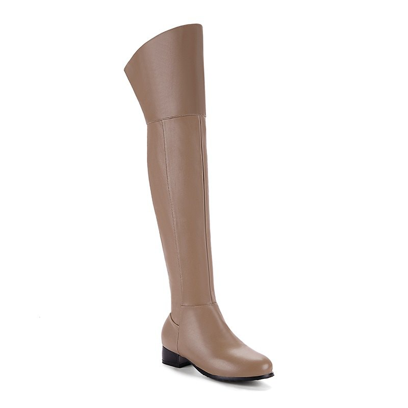 Shop Round Low-Heel with Casual Knee Boots