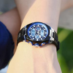 POPART 769AD Trendy Sports Rubber Band Waterproof Unisex Wristwatch -