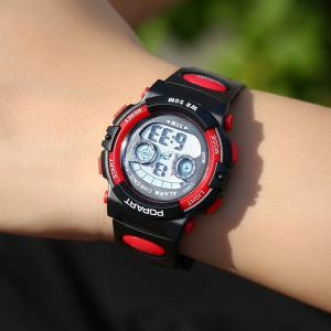 POPART 969D Sports Trendy PU Leather Band Unisex Wristwatch -