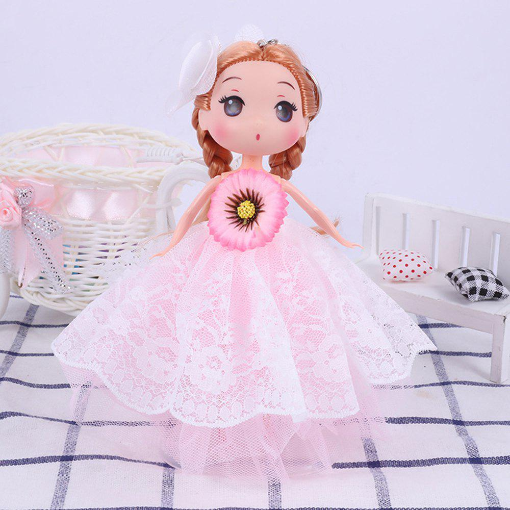 Trendy 18CM Fashion Princess Vinyl Wedding Dress Doll Accessories