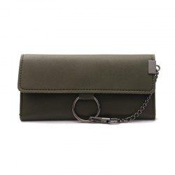 Female Long Business Fashion Chain Multi-functional Buckle High-capacity Women's Wallets -