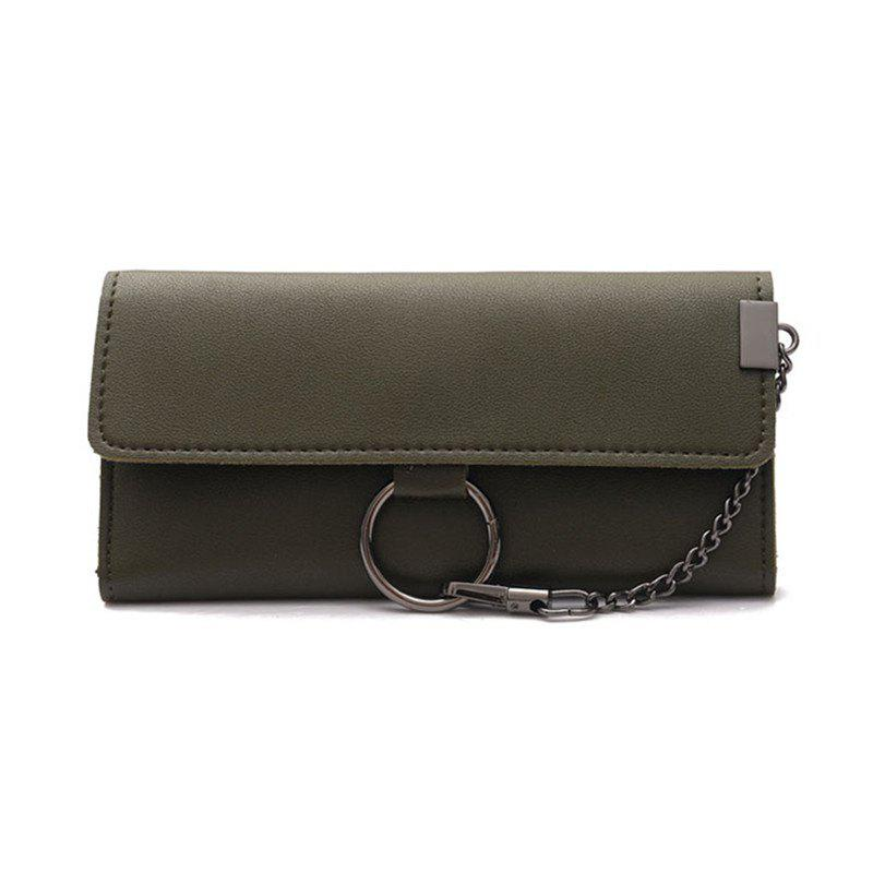 Trendy Female Long Business Fashion Chain Multi-functional Buckle High-capacity Women's Wallets