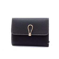 Small Fresh Students Short Section Simple Folding Trend Purse -