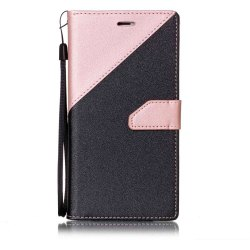 Color Stitching Leather Case for iPhone 8 Plus -