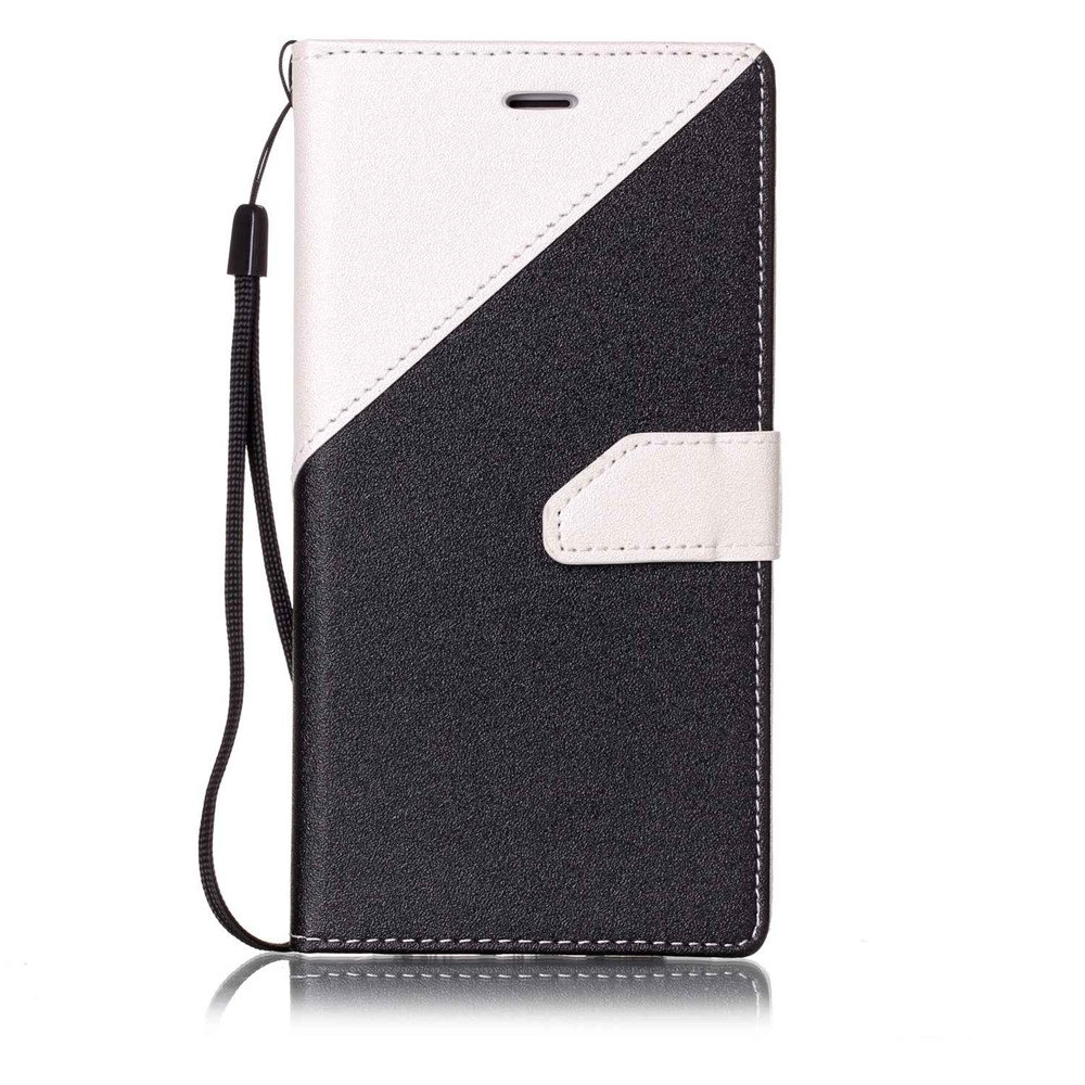 Fancy Color Stitching Leather Case for iPhone 8 Plus