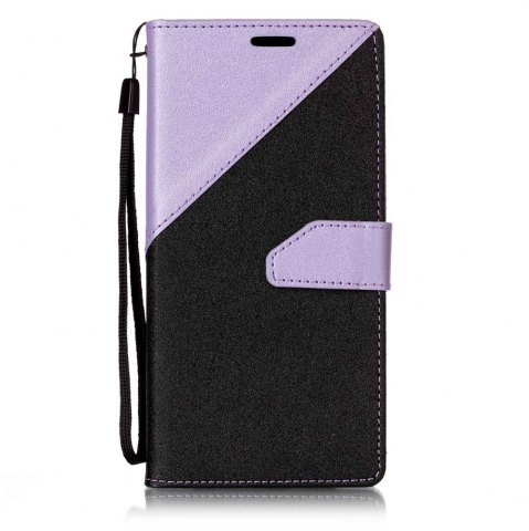 Hot Color Stitching Leather Cover Case for Samsung Galaxy S8 Plus