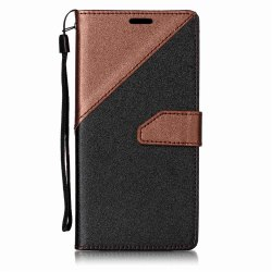 Color Stitching Leather Cover Case for Samsung Galaxy S8 Plus -