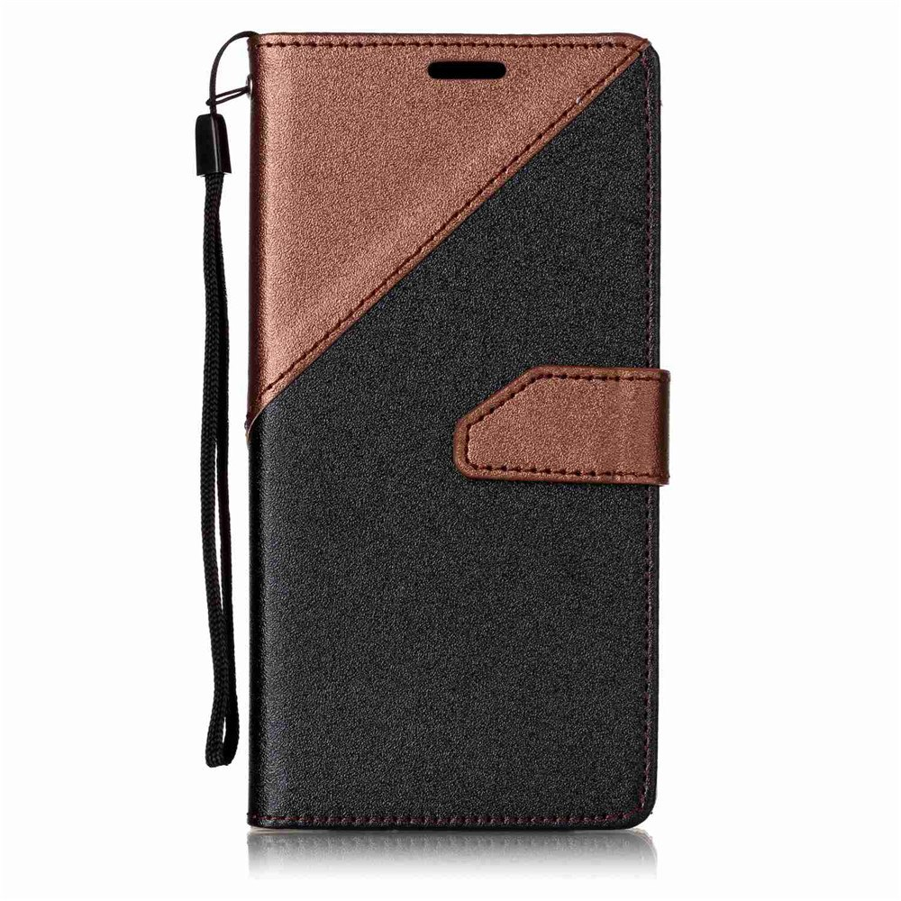 Online Color Stitching Leather Cover Case for Samsung Galaxy S8 Plus