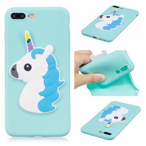 3D Unicorn Pattern Phone Protection Case for iPhone 8 Plus -