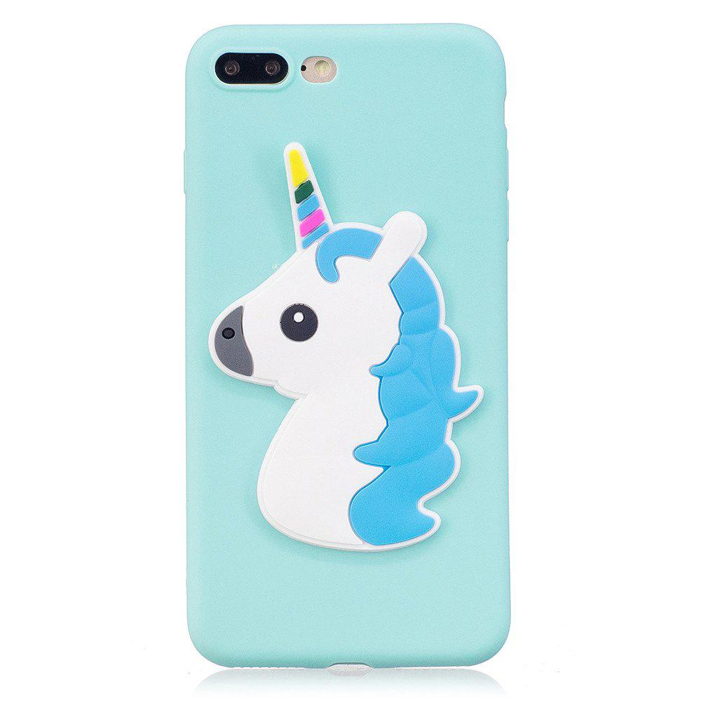 Store 3D Unicorn Pattern Phone Protection Case for iPhone 8 Plus