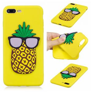 3D Pineapple Pattern Phone Protection Case for iPhone 8 Plus -