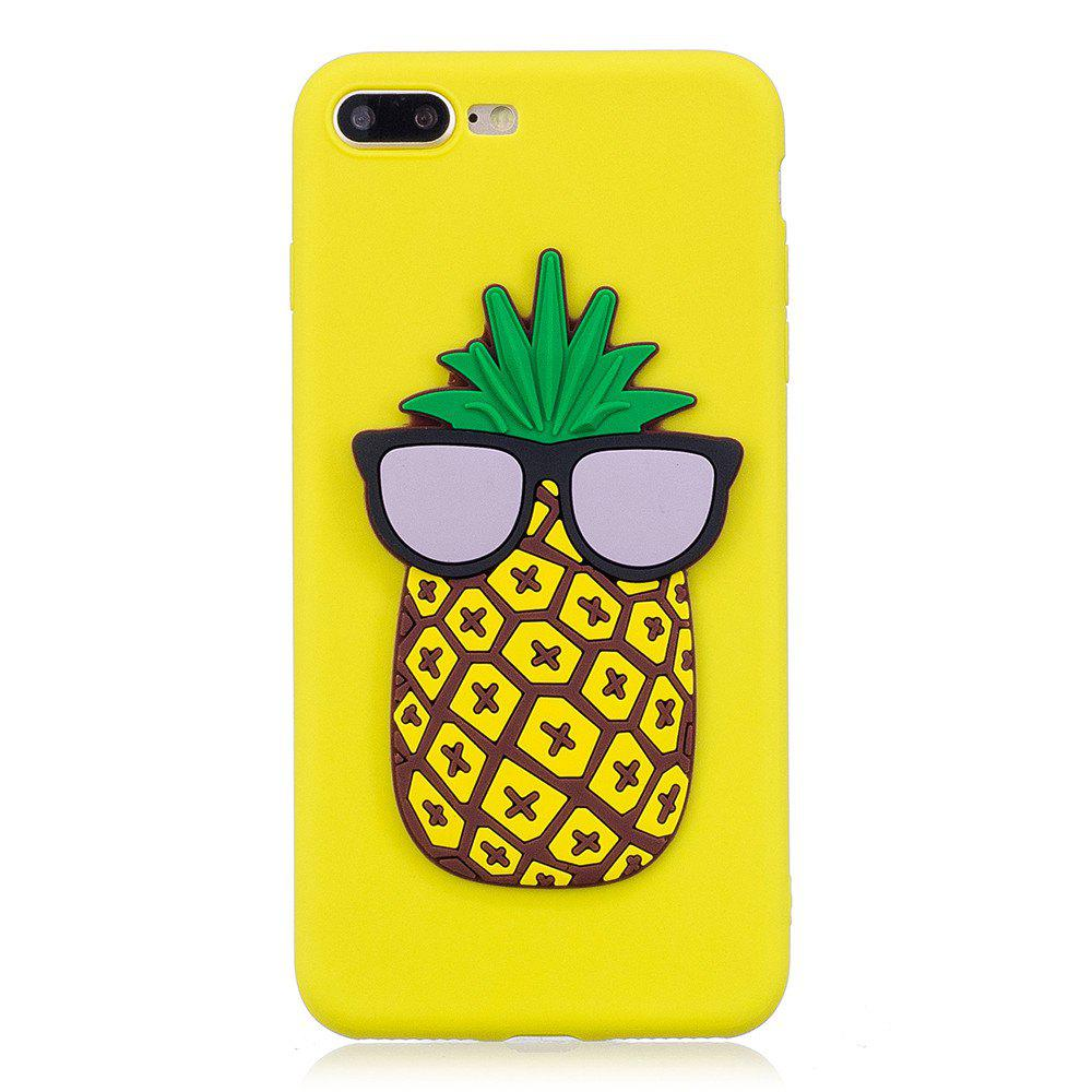 Unique 3D Pineapple Pattern Phone Protection Case for iPhone 8 Plus