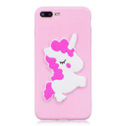 3D White Horse Pattern Phone Protection Case for iPhone 8 Plus -