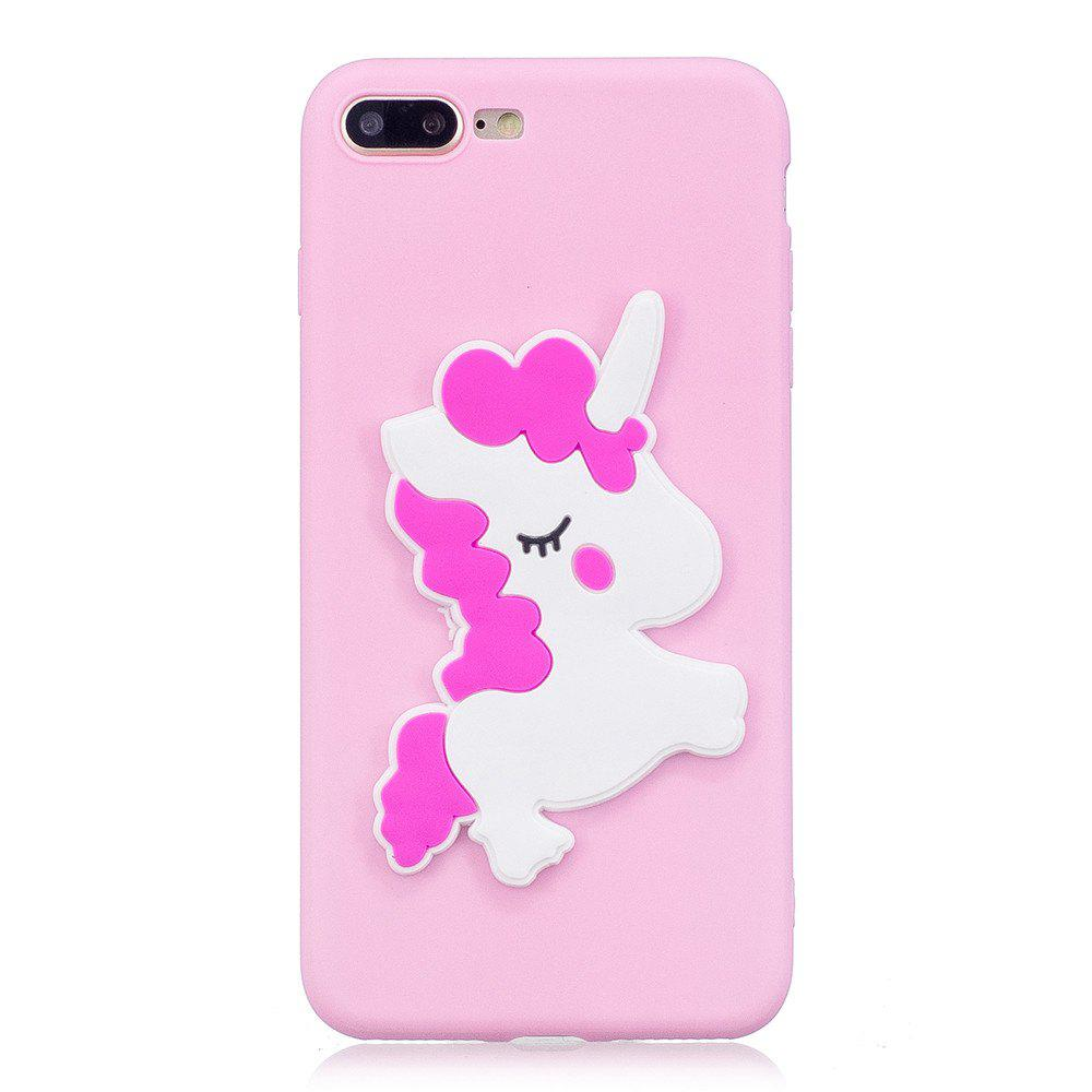 Fashion 3D White Horse Pattern Phone Protection Case for iPhone 8 Plus