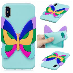 3D Sticked Butterfly Phone Protection Case for iPhone X -
