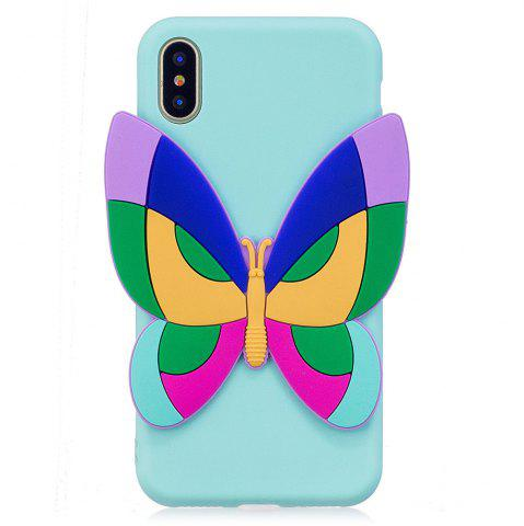 Online 3D Sticked Butterfly Phone Protection Case for iPhone X