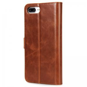 High Grade Crazy Horse Double Fold Leather Case for iPhone 7 Plus / 8 Plus -