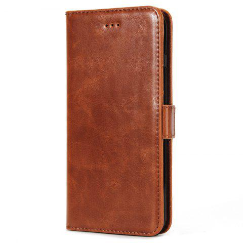 Shops High Grade Crazy Horse Double Fold Leather Case for iPhone 7 Plus / 8 Plus