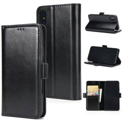 Buy High Grade Crazy Horse Double Fold Leather Case for iPhone X