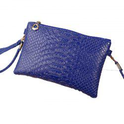 Women Crocodile Pattern Shoulder Diagonal Purse -