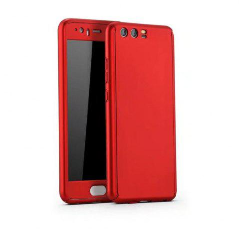 Fancy Full PC Back Cover Funda Complete All Around with Tempered Glass Case for Hawei P10 Plus