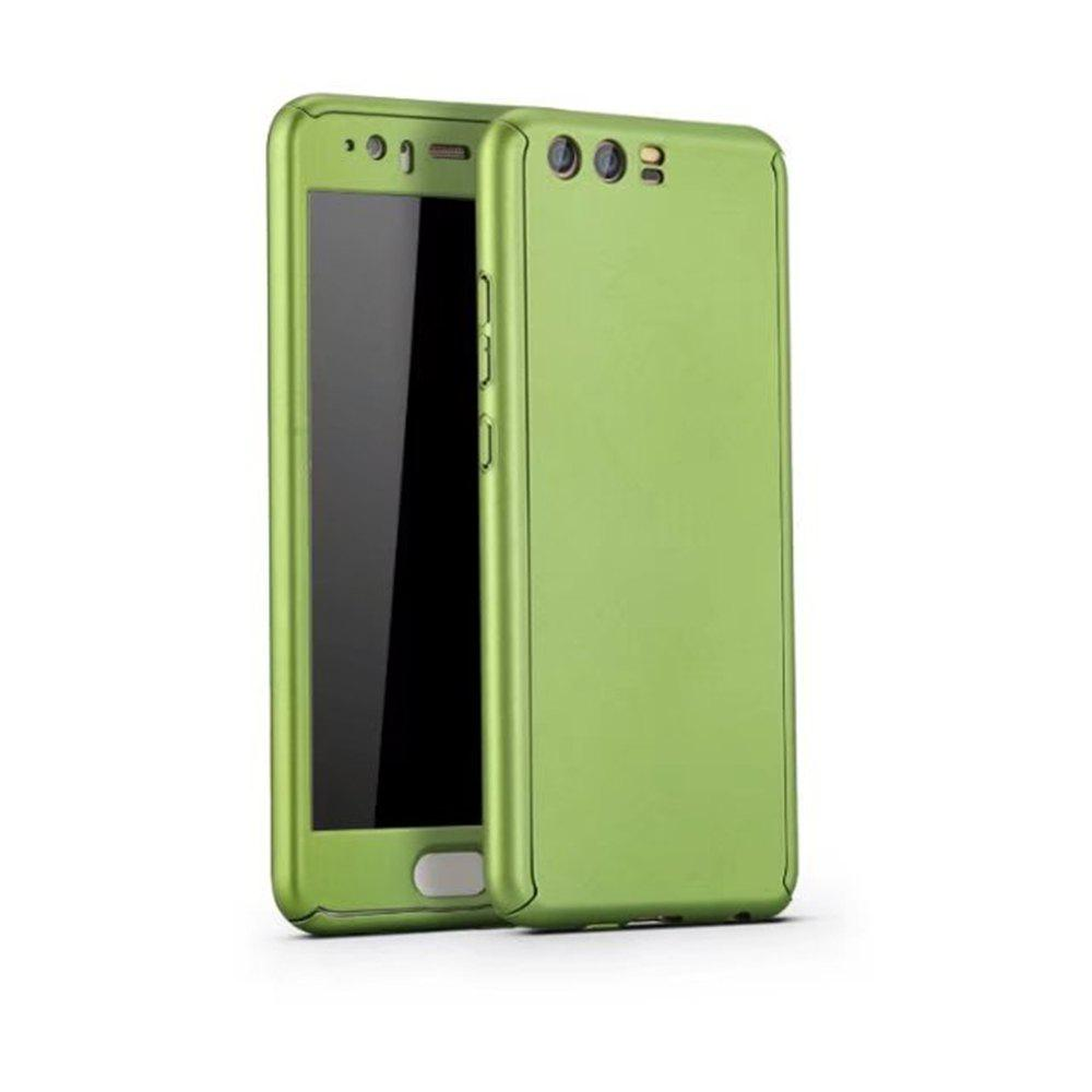 Chic Full PC Back Cover Funda Complete All Around with Tempered Glass Case for Hawei P10 Plus