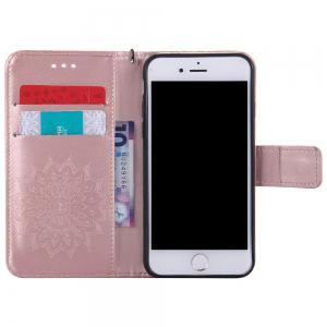 Sunflower Embossed Wallet Flip PU Leather Card Holder Standing Phone Case for iPhone 6 Plus / 6S Plus -