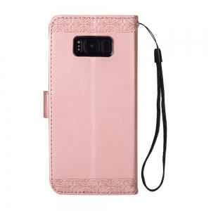 Embossed Wallet Flip PU Leather Card Holder Standing Phone Case for Samsung Galaxy S8 Plus -
