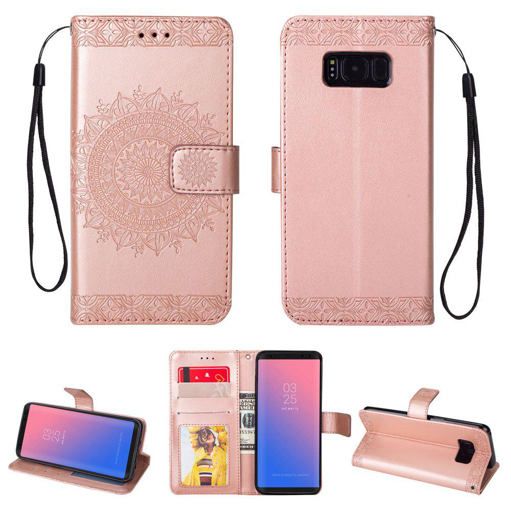 Outfit Embossed Wallet Flip PU Leather Card Holder Standing Phone Case for Samsung Galaxy S8 Plus