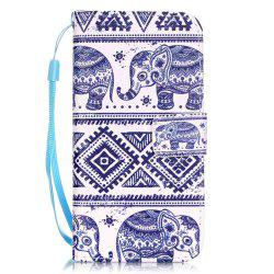 Elephant Pattern PU Leather Flip Wallet Case for iPhone 7 / 8 -