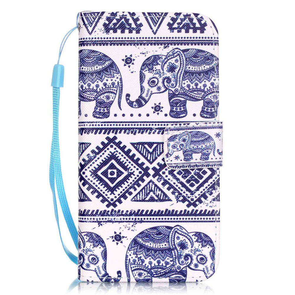 Unique Elephant Pattern PU Leather Flip Wallet Case for iPhone 7 / 8