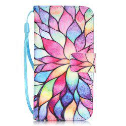 Lotus Pattern PU Leather Flip Wallet Case for iPhone 7 / 8 -