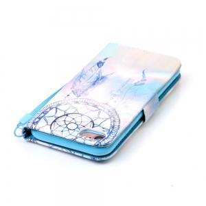 Dream Wind Chimes Pattern PU Leather Flip Wallet Case for iPhone 7 / 8 -