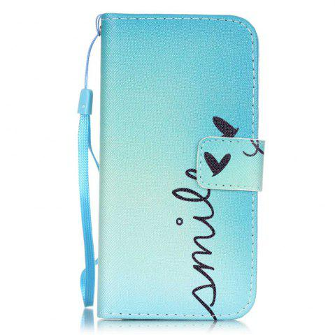 Smile motif PU cuir Flip Wallet Case pour iPhone 7/8