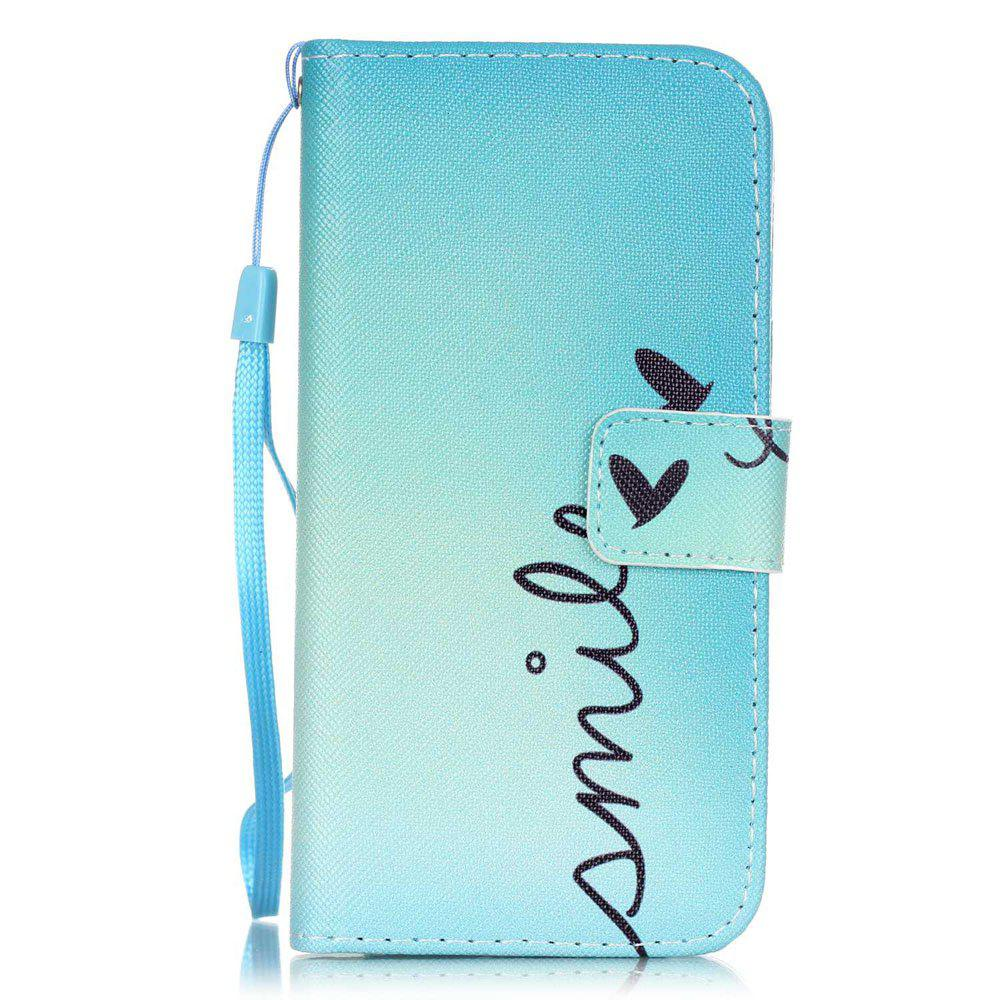 Discount Smile Pattern PU Leather Flip Wallet Case for iPhone 7 / 8